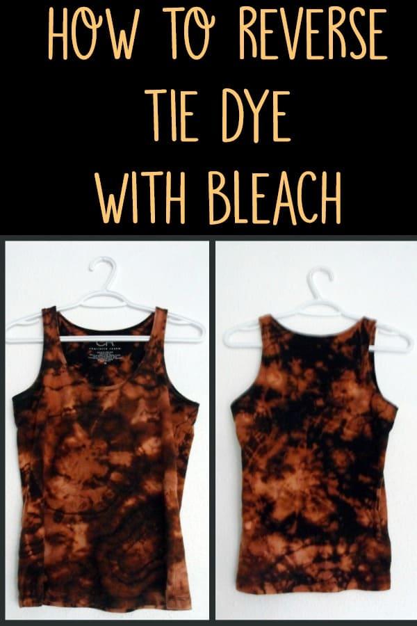 reverse tie dye wit with bleach