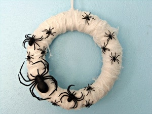 spooky spider mummy wreath