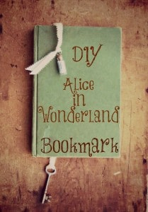 diy alice in wonderland bookmark