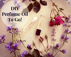 showing off the final product of DIY perfume oil to go