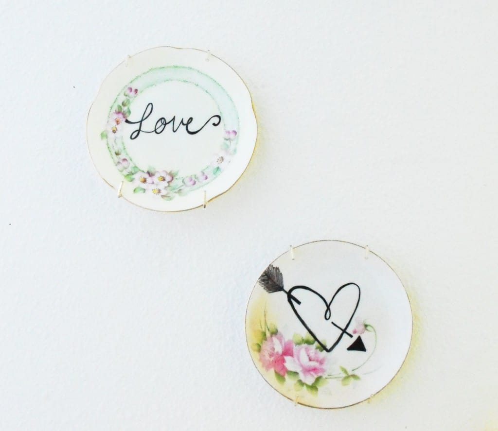 Valentines Decor- Vintage Plates