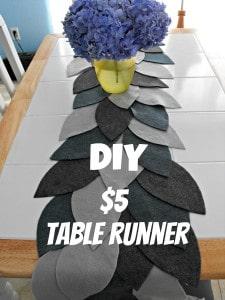 diy $5 tablerunner