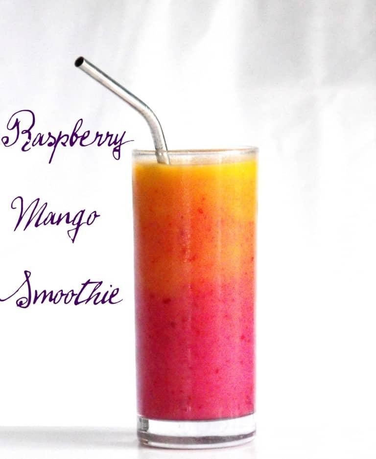 raspberry mango smoothie