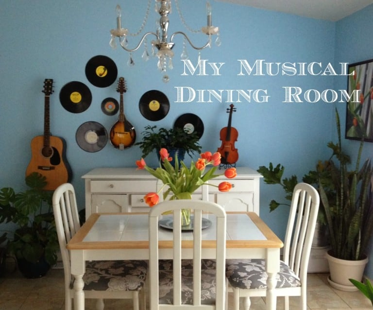 picture showing an updating dining room with the text My Musical Dining Room