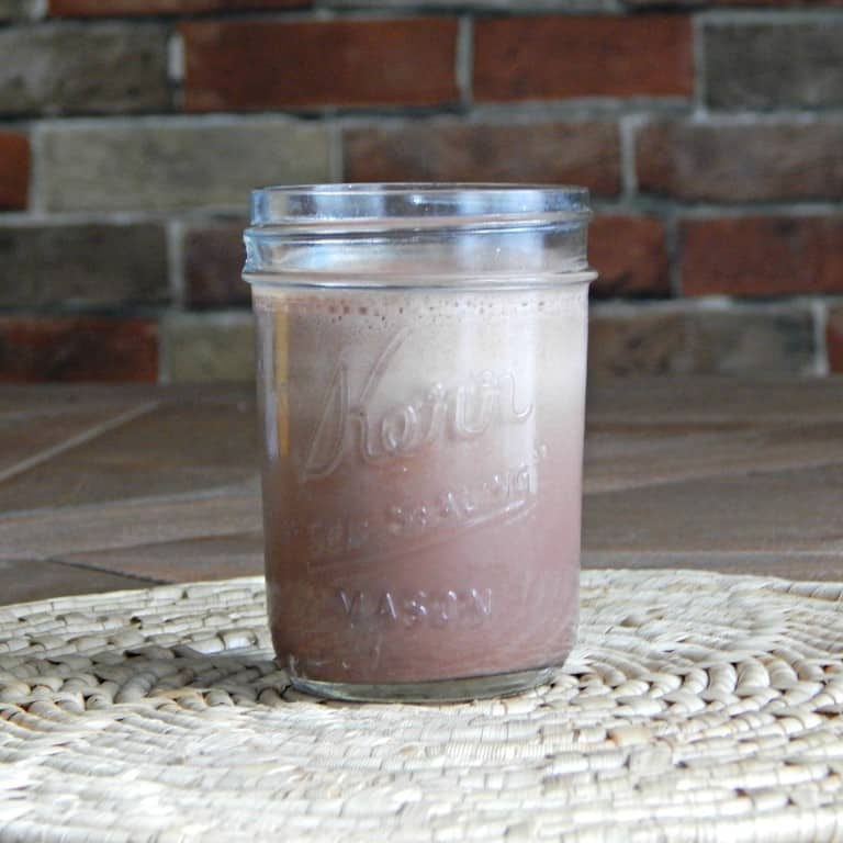 protein powder drink in jar
