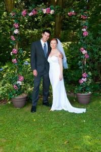 wedding photo of couple