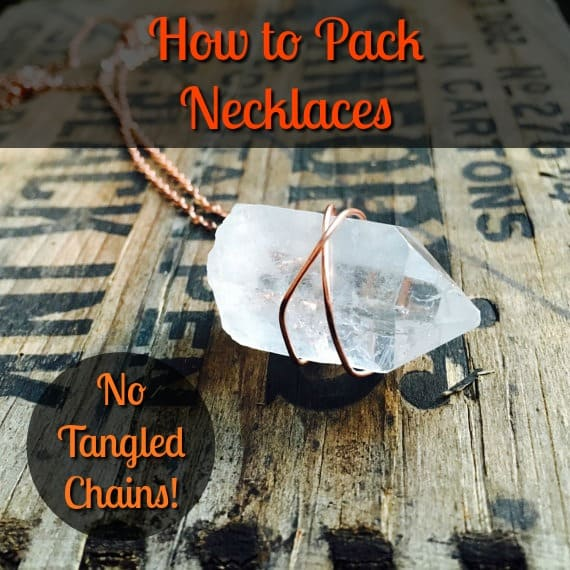 how to pack necklaces no tangled chains