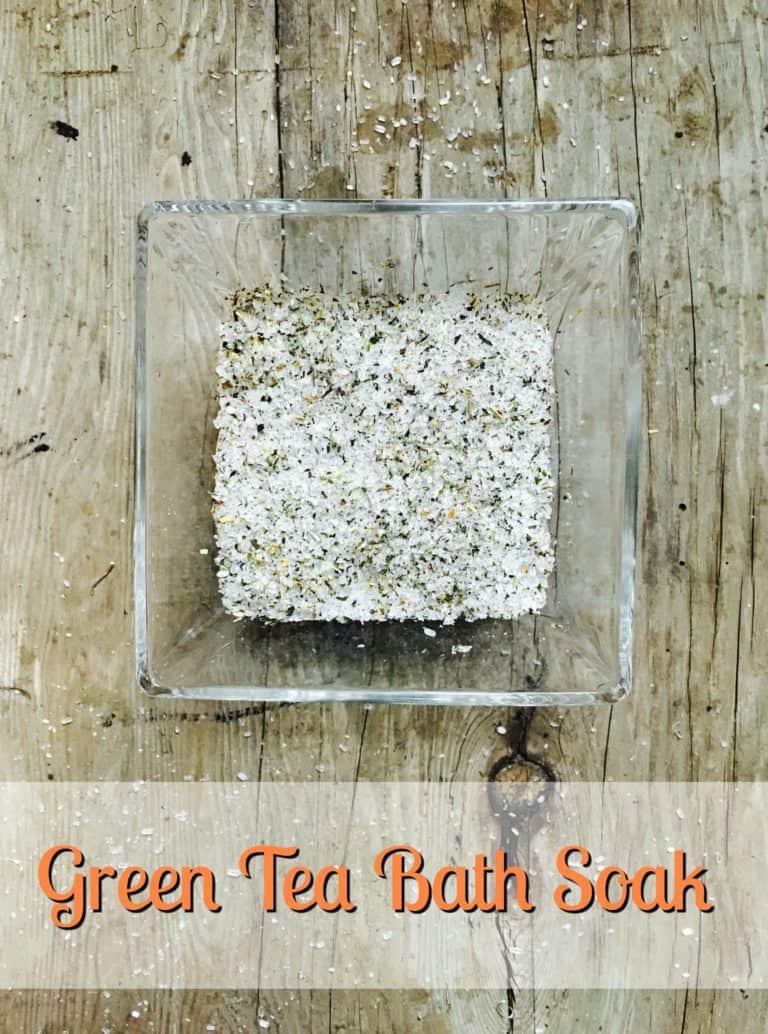 green tea bath soak