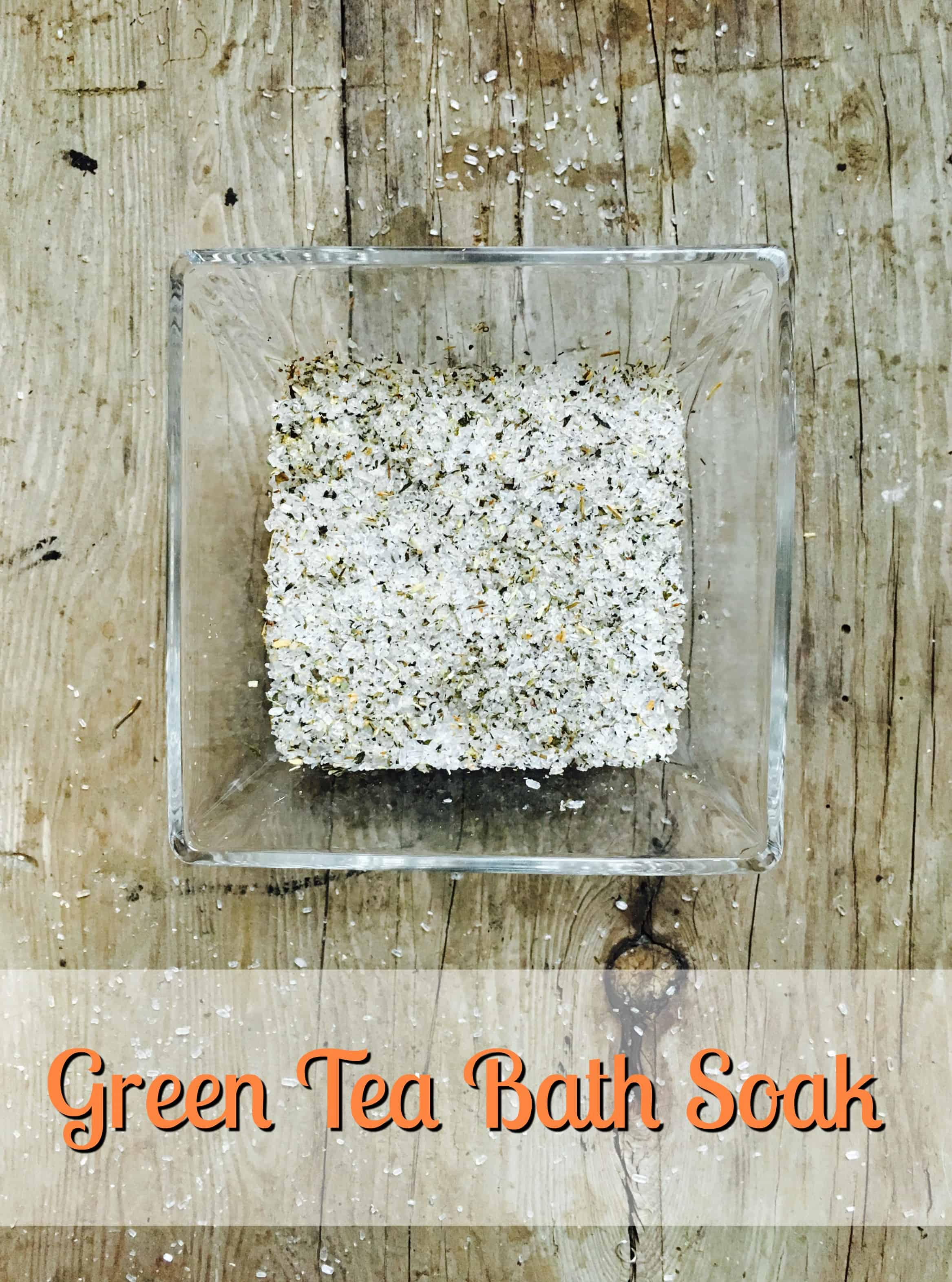Homemade Bath Salts Make Green Tea Bath Soak For Your Sore