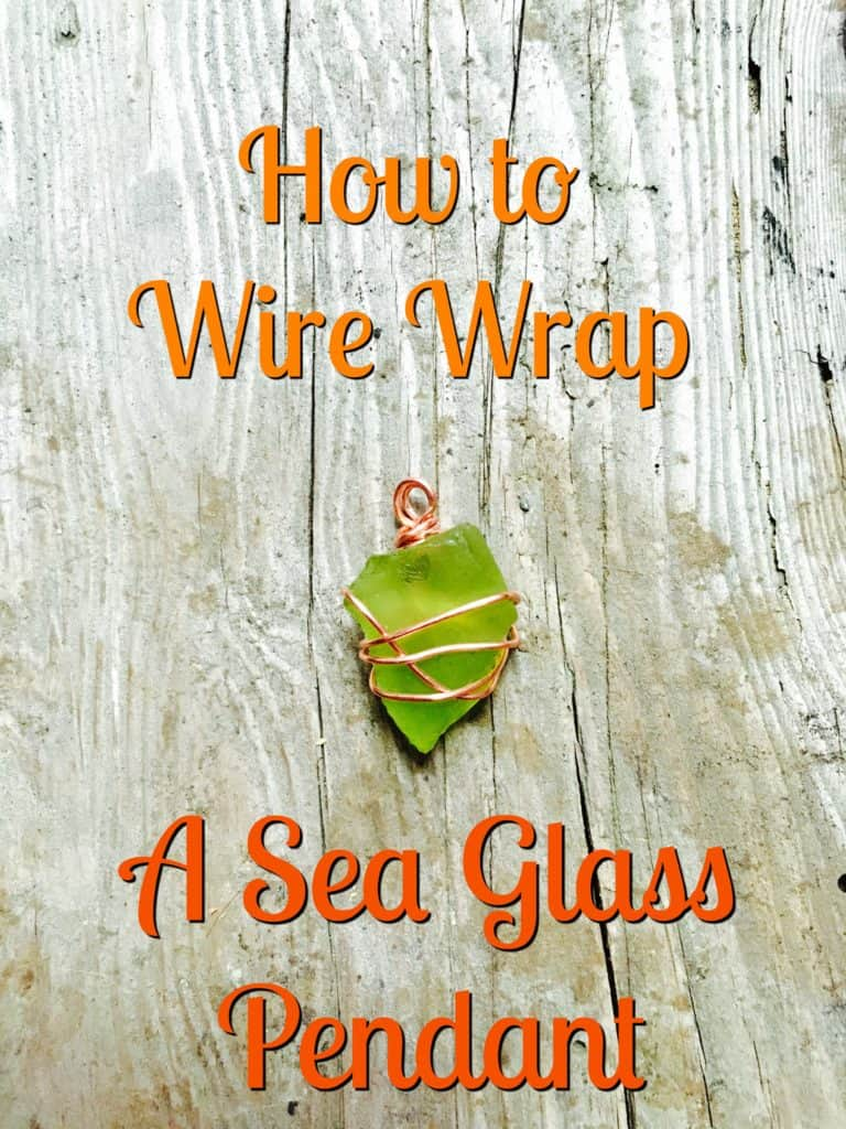 how to write wrap a sea glass pendant