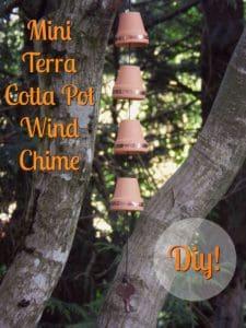mini terra cotta pot wind chime diy