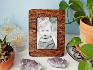 wood burned picture frame
