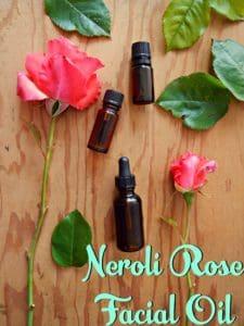 neroli rose facial oil