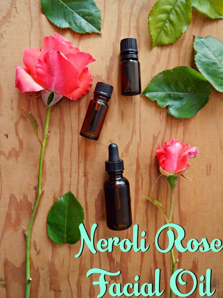 Homemade Neroli Rose Facial Oil