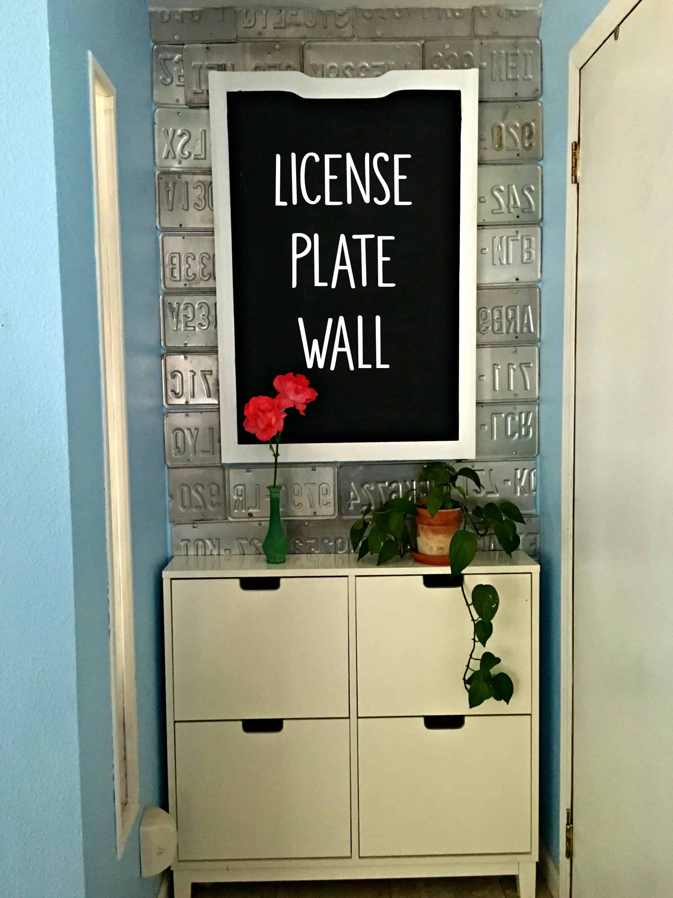 License Plate Wall Diy Crafty Little Gnome