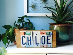 licensed plate sign