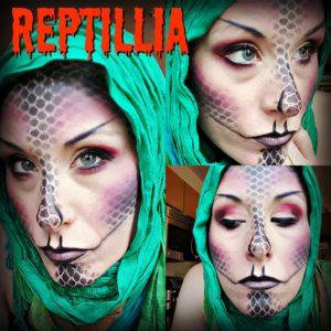 reptillia halloween makeup