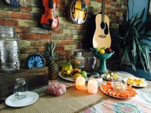 calming snack table