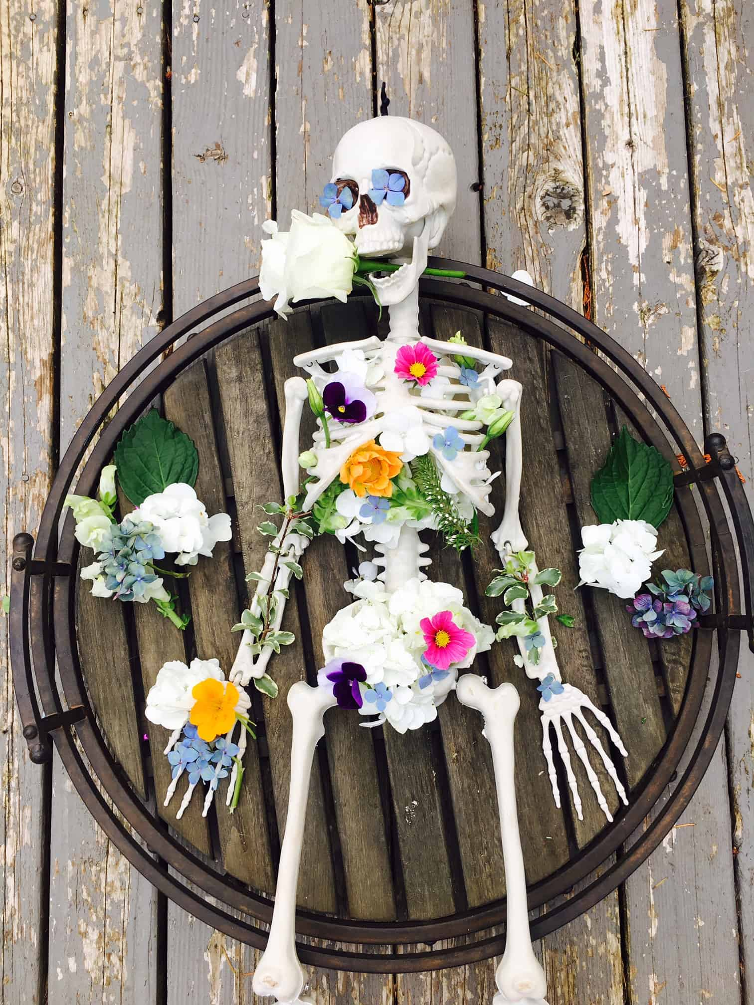 Skeleton Flower Arrangement Crafty Little Gnome
