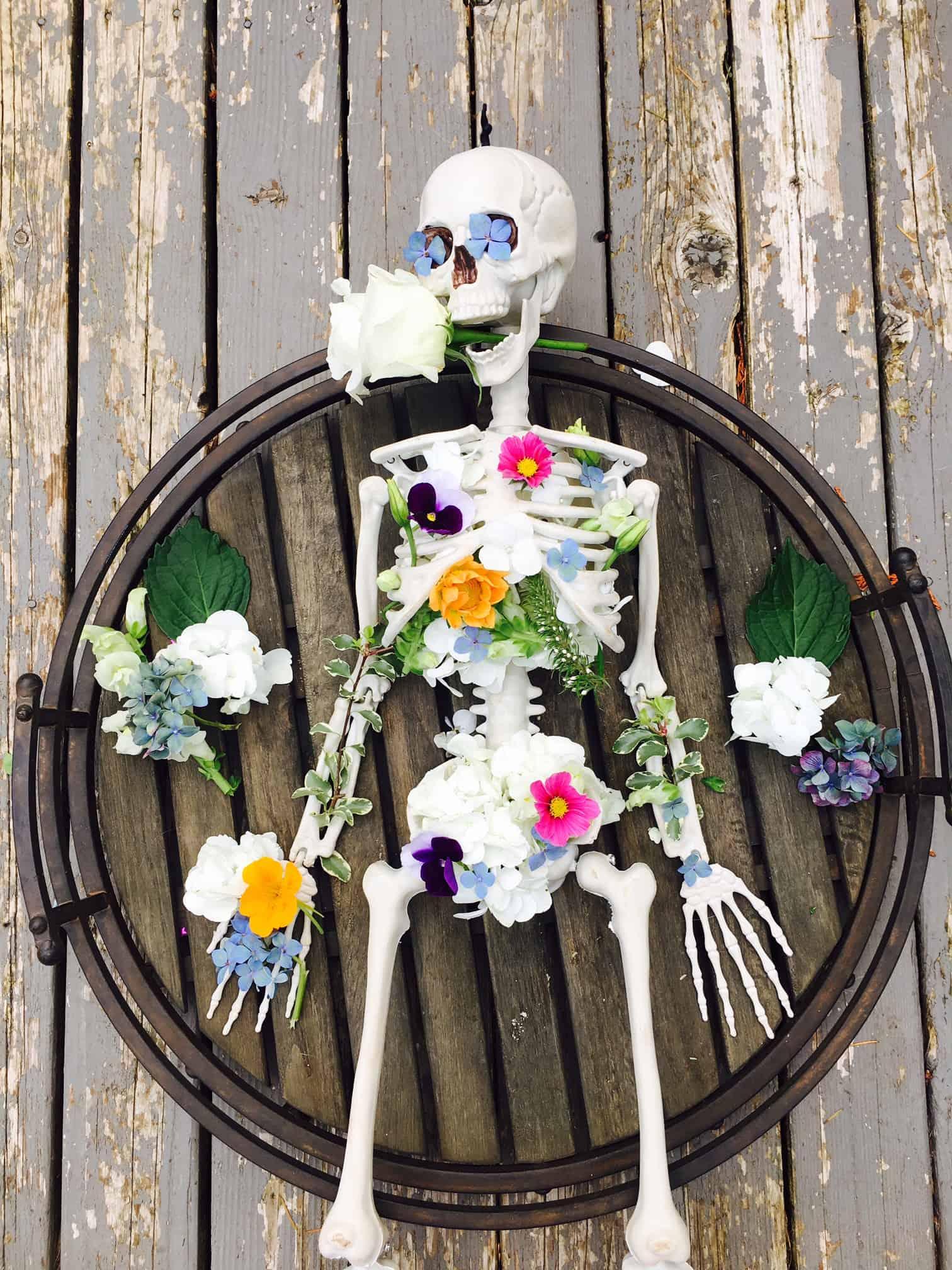 Skeleton Flower Arrangement Crafty Little Gnome