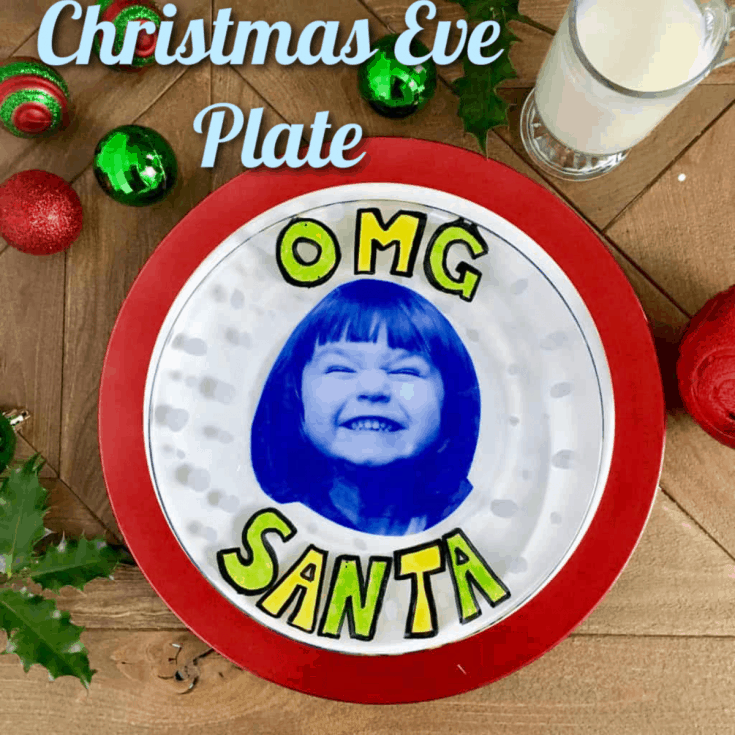 Make a Christmas plate for santa's cookies.