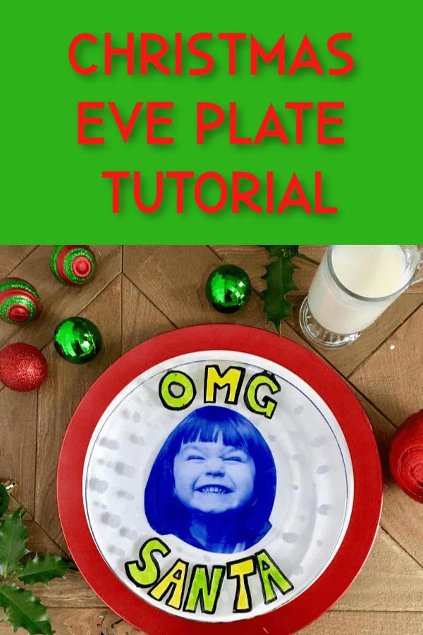 diy christmas eve plate tutorial
