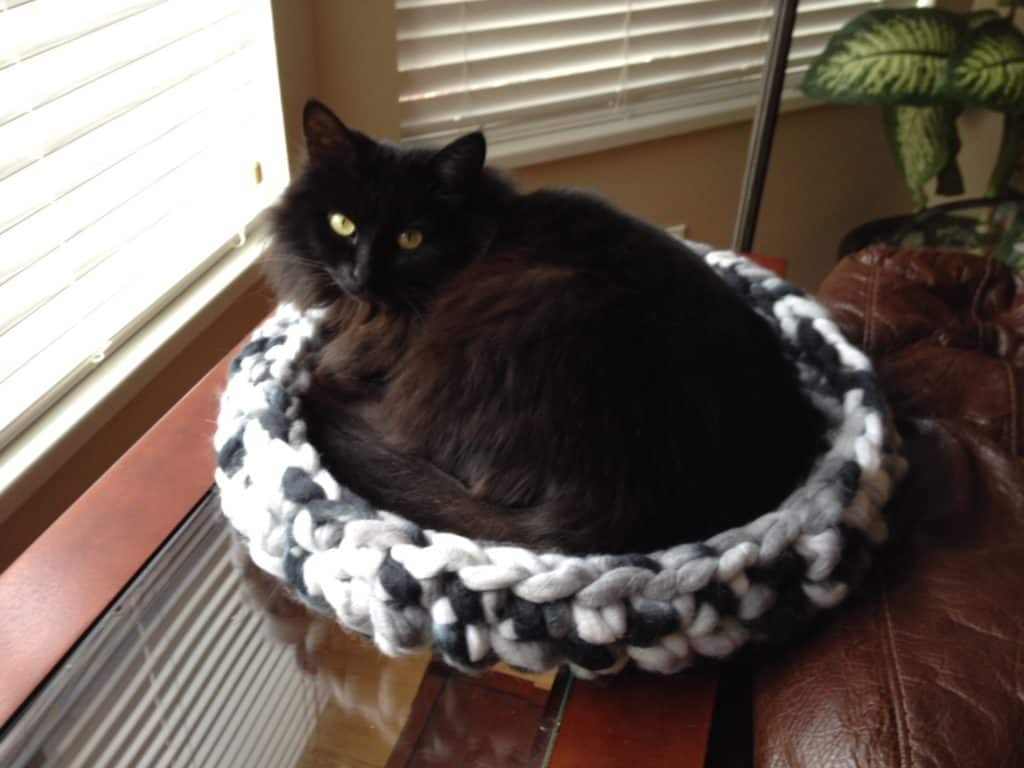 Crochet Cat Bed Tutorial