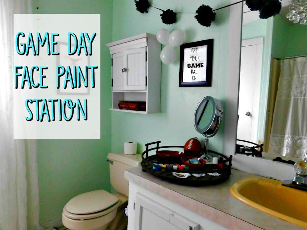 Game Day Face Paint Station