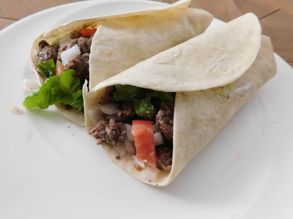 Lamb and Beef Gyro Burritos
