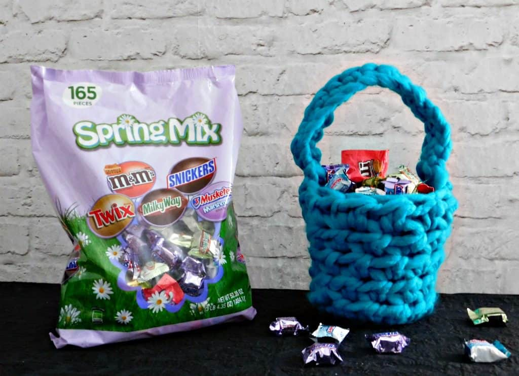 spring mix candy in easter basket