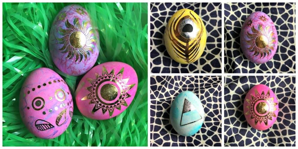 Easter egg collage