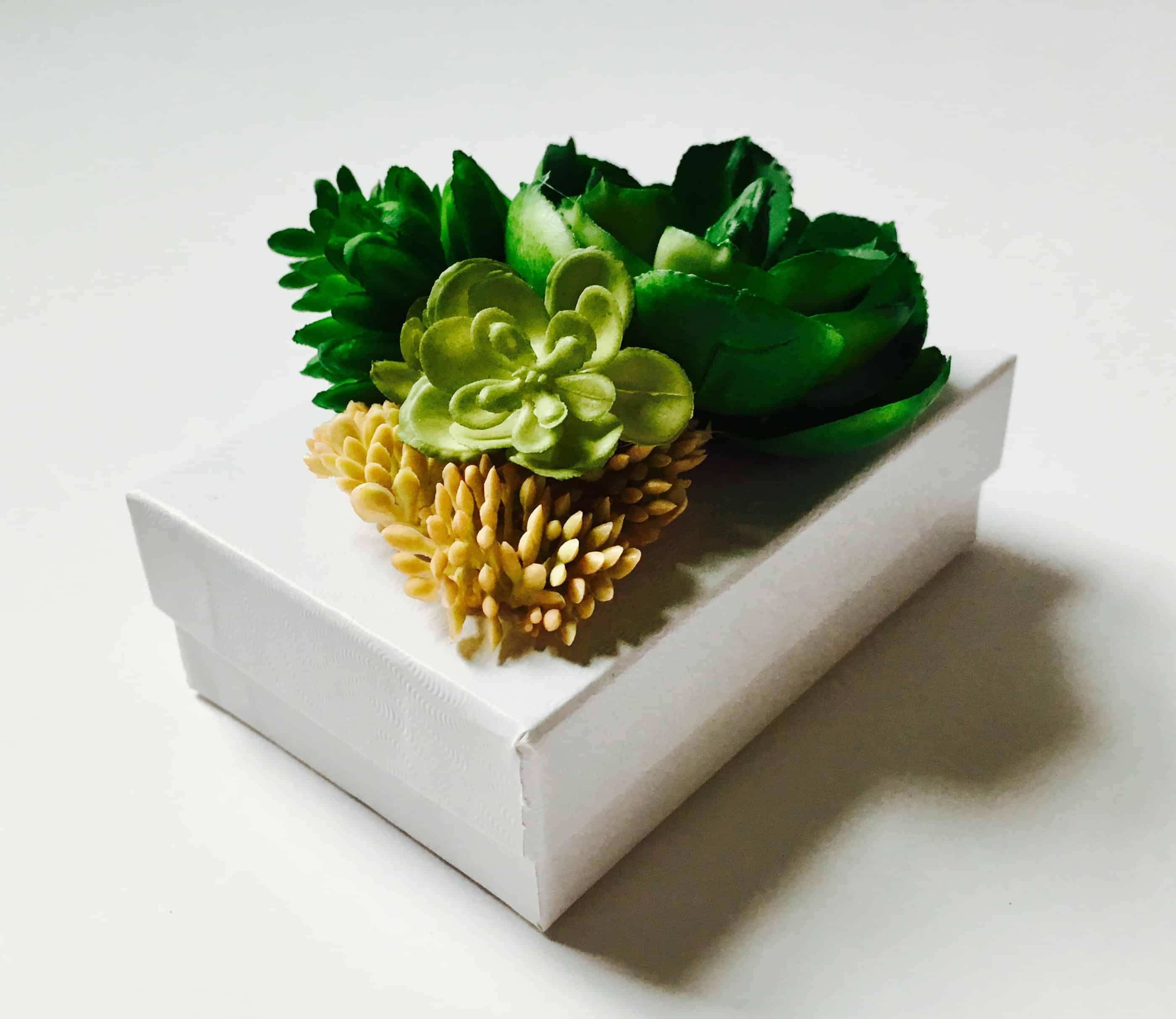 Succulent Gift Box Tutorial Make This Gift Box With Faux