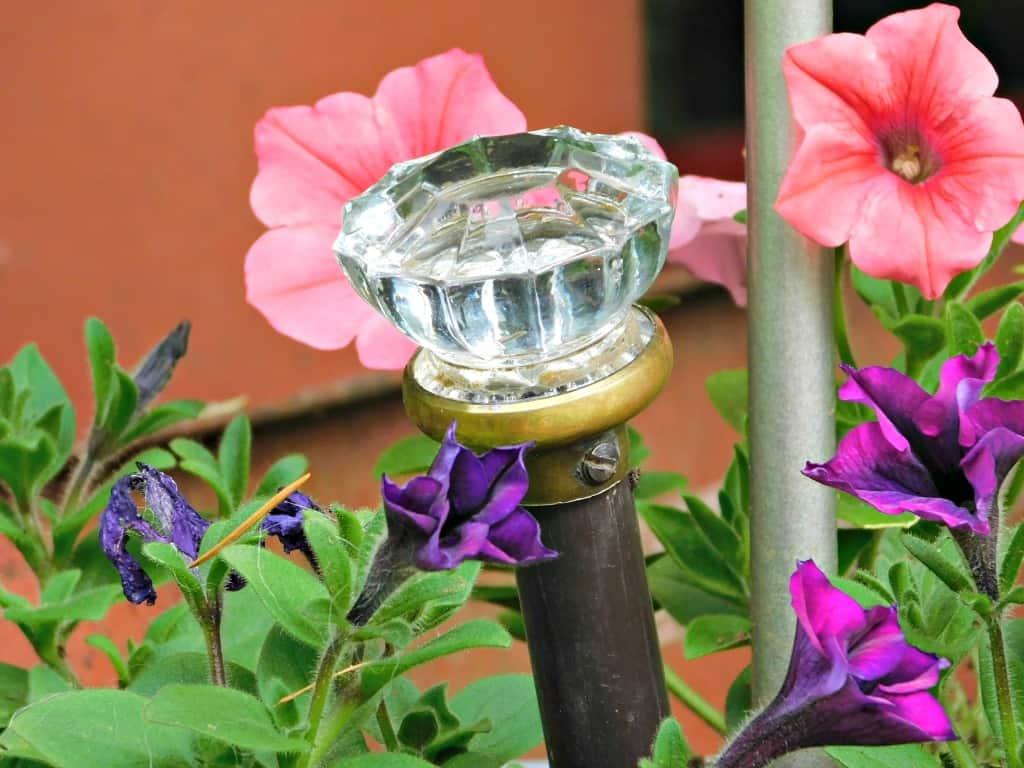 Upcycled Doorknob Garden Art Stake Recycled Garden Decor