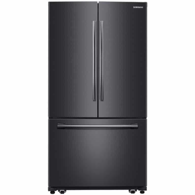 stainless steel black fridge
