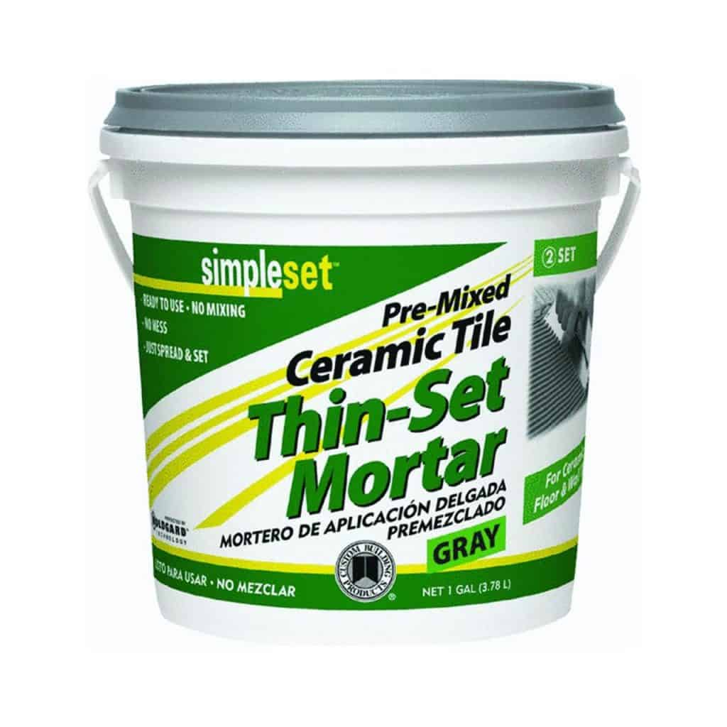 thin set mortar