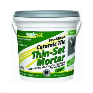thin set mortar tile grout