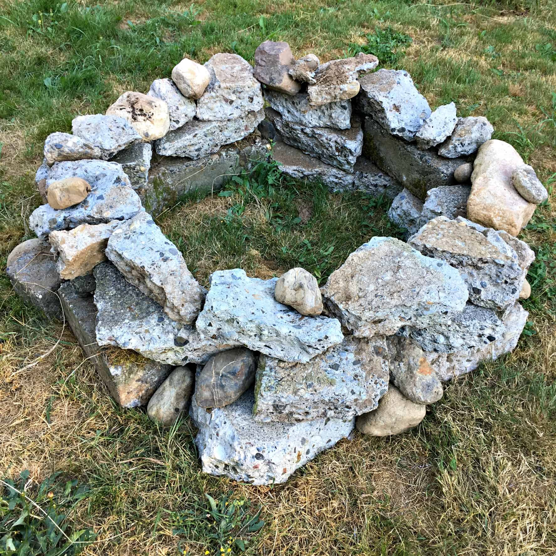 How to Build a Free Fire Pit with Recycled Concrete