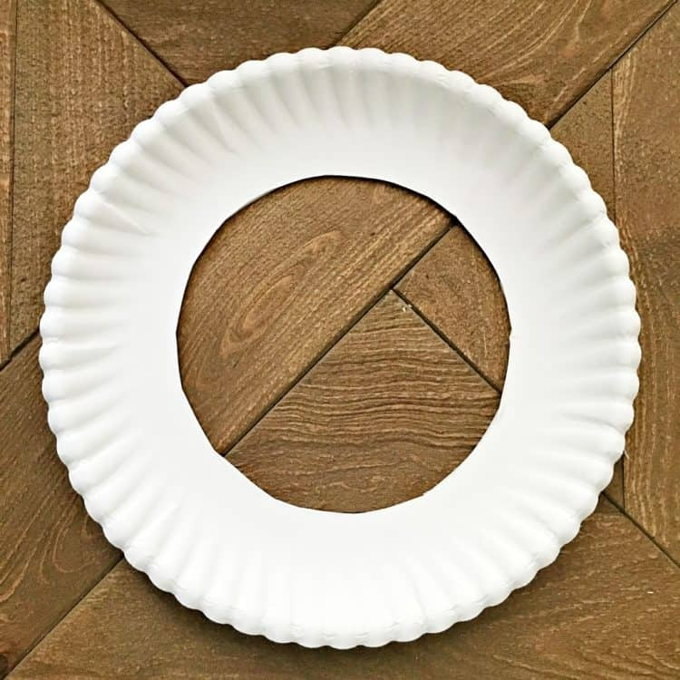 paper plate with hole in the middle