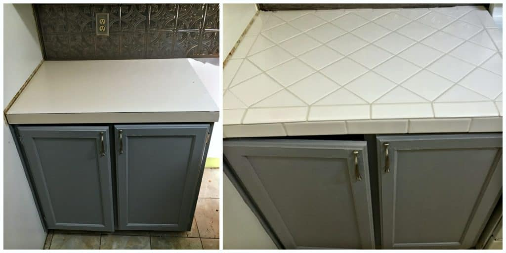 tile over laminate counters