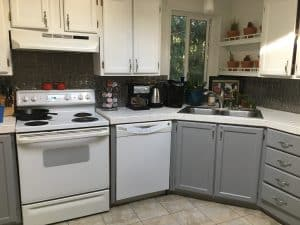 before picture of white dishwasher