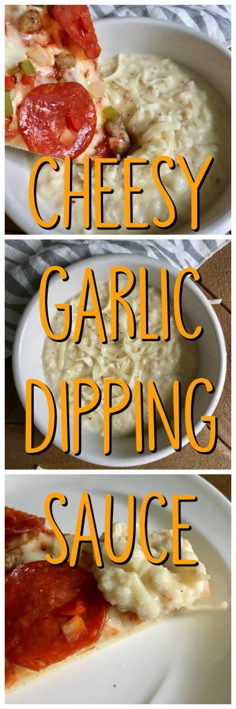 White Garlic Cheesy Parmesan Pizza Dipping Sauce