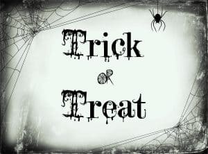 trick or treat printable