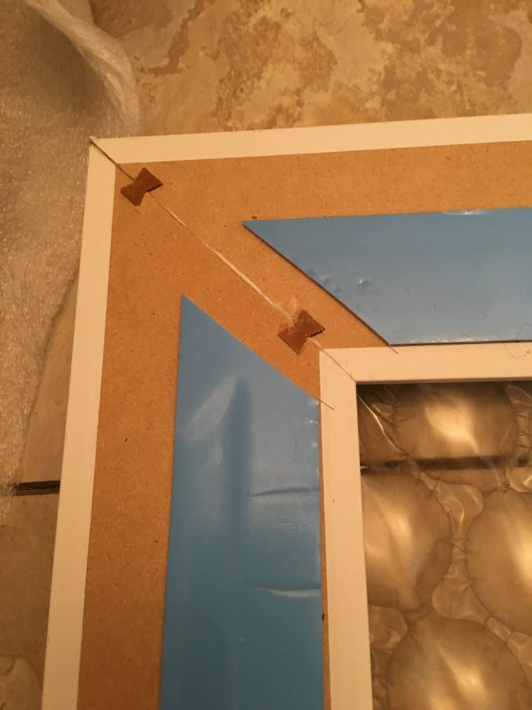 Bathroom Mirror Makeover Add A Frame To Builder Grade Mirror