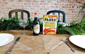 panko crumbs on the table
