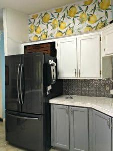 lemon kitchen wallpaper