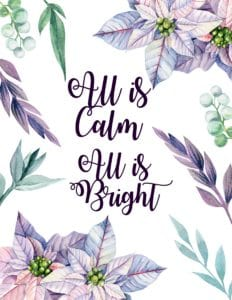 all is calm all is bright printable