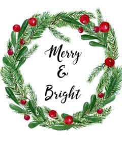 merry and bright printable