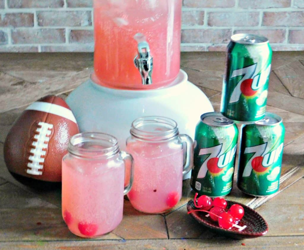 football party punch in in cooler with 7UP
