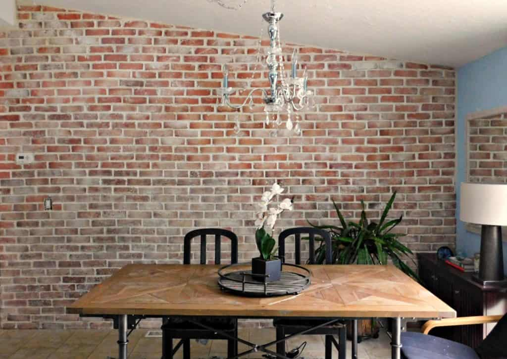 Real Thin Brick Accent Wall Tutorial