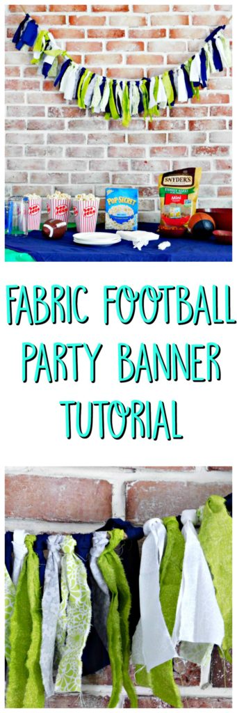 Fabric Football Party Banner